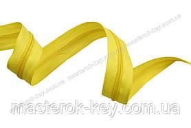 Молния спиральная метражная №5 цвет желтый #606