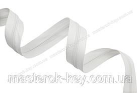 Молния спиральная метражная №5 цвет белый #501