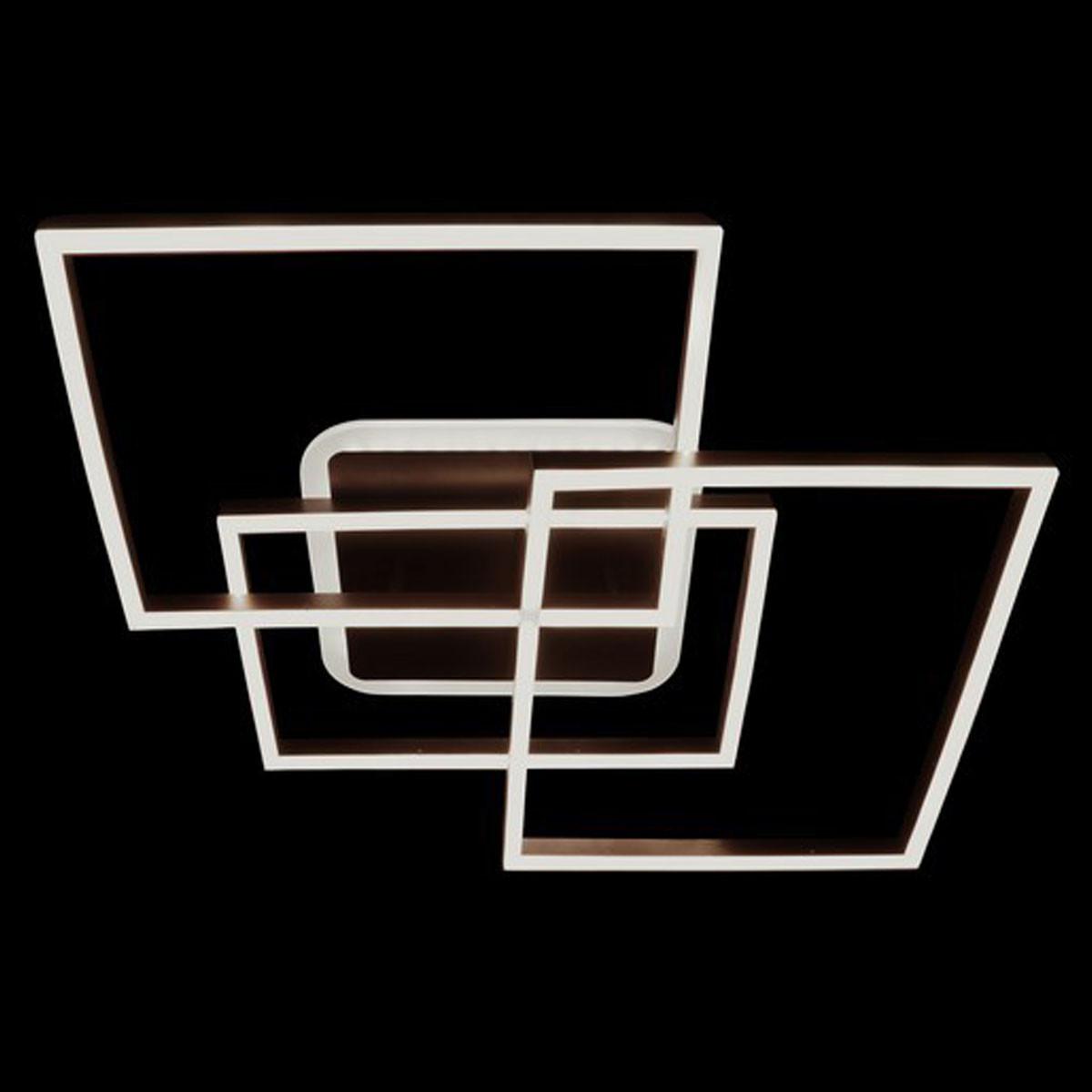 Лед люстра на пульте квадратная с димером цвета белый коричневый 140W Линия солнца&2001-3A