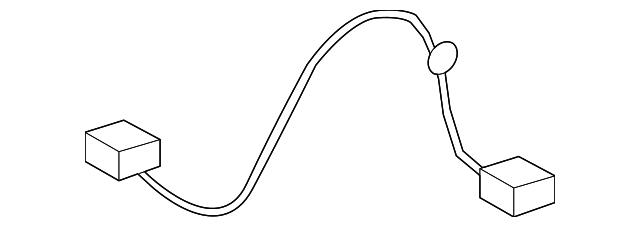 Провод подсветки номерного знака, заднего FORD 7T4Z13412A