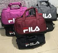 Дорожная сумка среднего размера мужская женская fila тканевая.