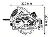 Пила дисковая Bosch GKS 65 GCE в коробке (0601668900)
