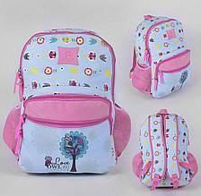 Рюкзак школьный 1 отделение, 2 кармана, мягкая спинка, в кульке