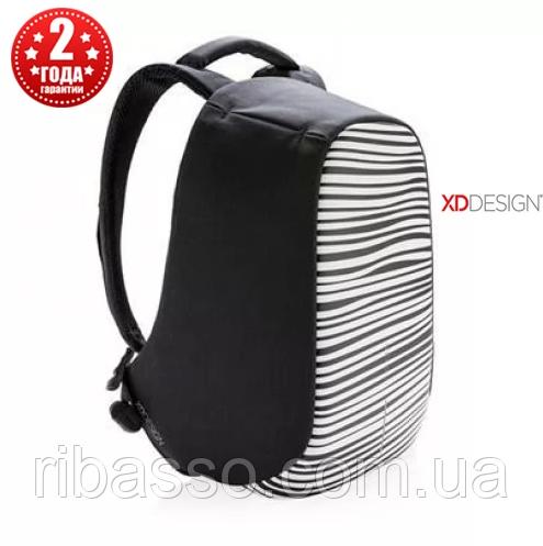 """XD design Рюкзак антивор городской  Bobby Compact 14"""", Zebra (P705.651)"""
