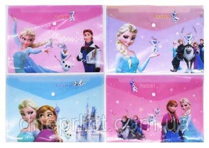 "Папка-конверт А4, на кнопке ""Frozen"" (Холодное сердце)"