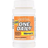 21st Century, One Daily womens (100 таб.=100 порций), женские витамины