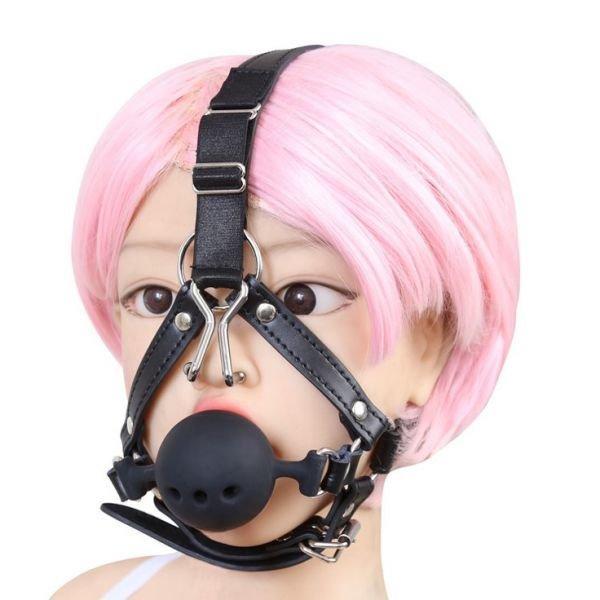 Силіконовий кляп з гачками для носа
