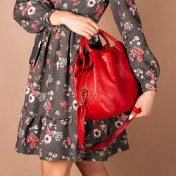Кожаная красная женская сумка с двумя ручками, на молнии, цвет любой на выбор