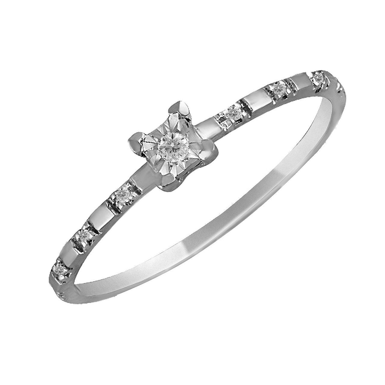 Золотое кольцо с бриллиантами, размер 16.5 (069056)