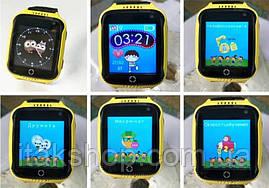 Детские умные часы Smart Baby Watch Q528 с GPS Yellow, фото 3