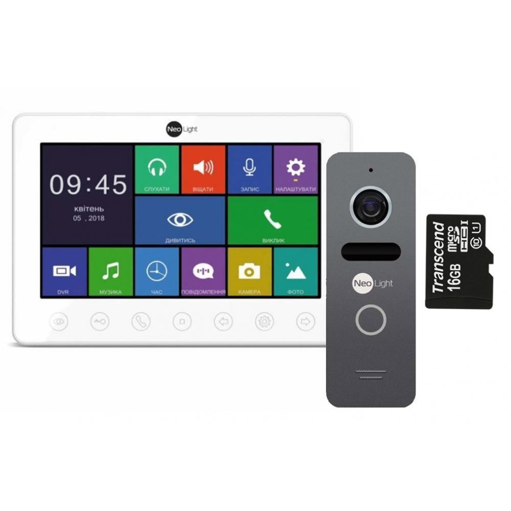 Комплект відеодомофона NeoLight Omega+ і NeoLight Solo Graphite