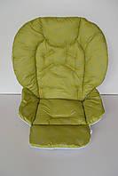 Чехол на стульчик для кормления Chicco Polly 2 в 1 сердечки на зеленом, фото 1