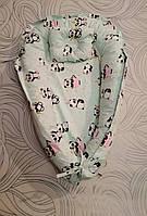 Кокон-позиционер для новорожденного гнездо кокон для ребёнка Мишка