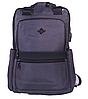 Рюкзак городской текстильный с отделом для ноутбука Leadfas черный, фото 3