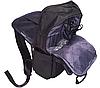 Рюкзак городской текстильный с отделом для ноутбука Leadfas черный, фото 5