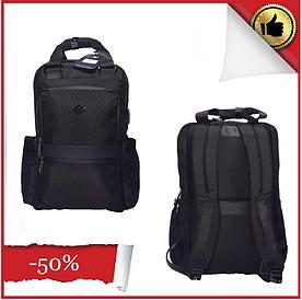 Рюкзак городской текстильный с отделом для ноутбука Leadfas черный