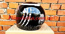 Шолом для мотоцикла Hel-Met F2-825-4 Хишник чорний з білим глянець, фото 3