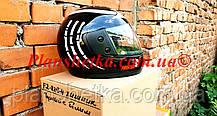 Шолом для мотоцикла Hel-Met F2-825-4 Хишник чорний з білим глянець, фото 2
