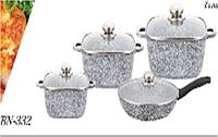 Набор посуды с крышками Benson BN-332 PR5