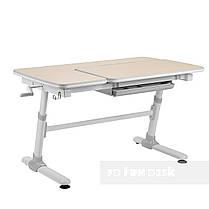 Комплект  стол-трансформер FunDesk Invito Grey + эргономичное кресло FunDesk Diverso Blue, фото 2