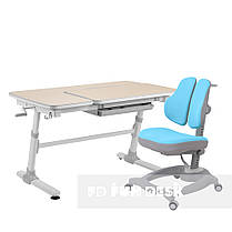 Комплект  стол-трансформер FunDesk Invito Grey + эргономичное кресло FunDesk Diverso Blue, фото 3