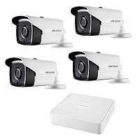 Комплект для наружнего видеонаблюдения на 4-ре цилиндрицеские TurboHD камеры