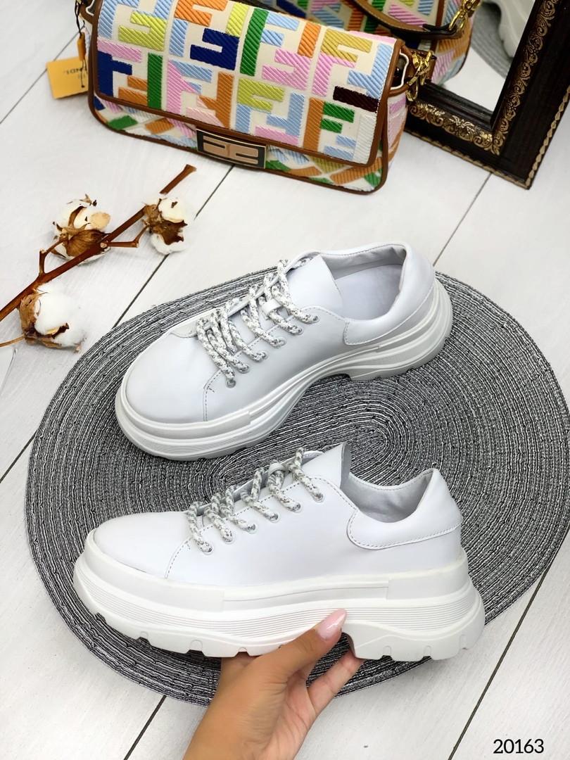 Кросівки Casual біла шкіра натуральна В наявності та під замовлення
