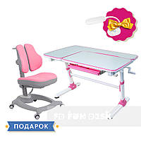 Комплект  стол-трансформер FunDesk Invito Pink + эргономичное кресло FunDesk Diverso Pink