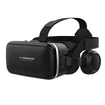 Очки виртуальной реальности Shinecon VR G04E c наушниками и 3D звуком для просмотра игр кино смартфонов