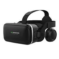 Очки виртуальной реальности Shinecon VR G04E c наушниками для просмотра игр кино смартфонов Hi-Fi 3D звук
