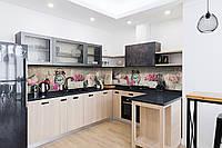 Виниловый кухонный фартук самоклеющийся Прекрасное утро 02 (скинали для кухни наклейка ПВХ) ретро розовый 600*2500 мм, фото 1