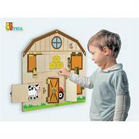 Бизиборд настенная  развивающая Viga Toys Открой замок для детей от 18 месяцев