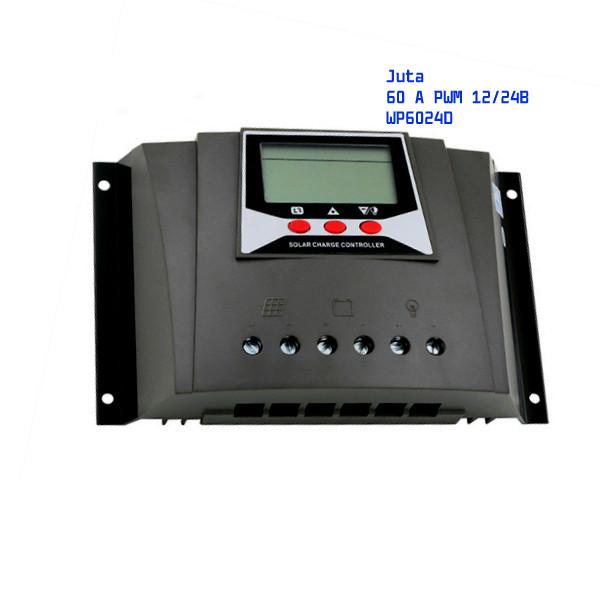 Контроллер заряда солнечной батареи Juta 60 А PWM 12/24В WP6024D