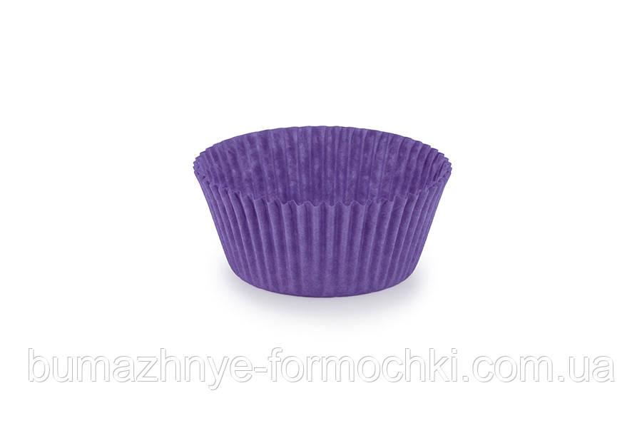 Фиолетовые формочки для выпечки кексов и маффинов, 50х30 мм