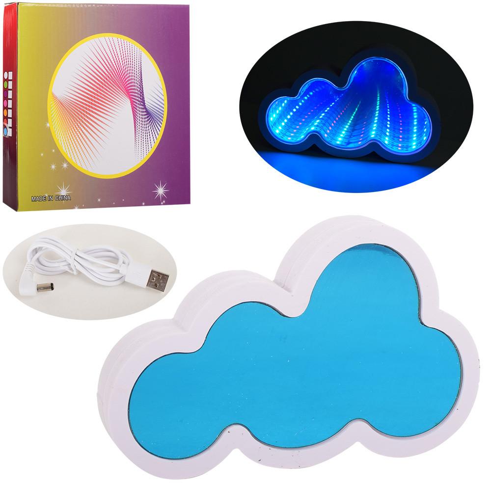 Ночник облако, 20-13см, 3D свет, USB шнур, от сети, L005