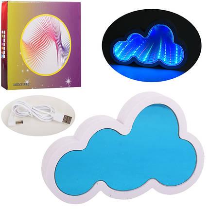 Ночник облако, 20-13см, 3D свет, USB шнур, от сети, L005, фото 2