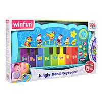 Пианино детское 32,5см, музыка, звук, свет, запись, 2090-NL