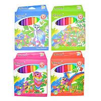 Фломастеры для рисования на бумаге картон Rhubarb 12 разных цветов, пластик, Фломастер, Маркер, Набор фломастеров, Фломастеры детские