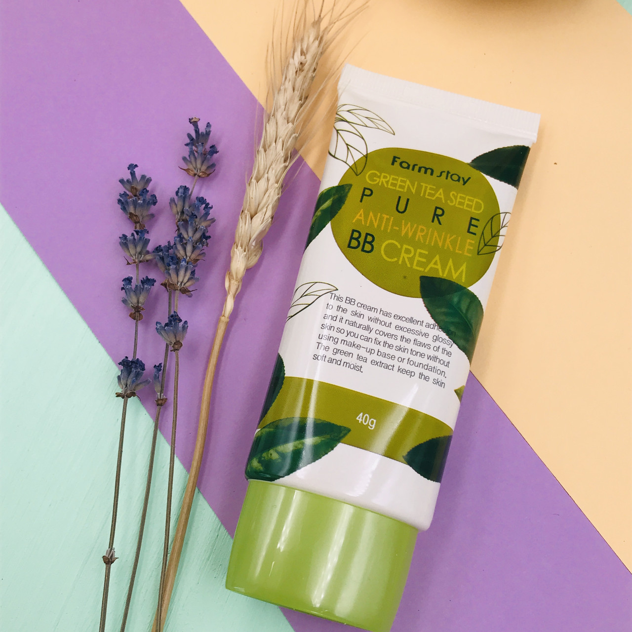 FARM STAY антивозрастной BB крем с семенами зеленого чая Green Tea Seed Pure Anti Wrinkle BB Cream