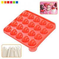 """Форма для Поп-Кейков (Cake Pops) Stenson """"Елочка"""" HH-779 силиконовая, 23х18,5х2,5 см, товары для кухни из силикона, формы для выпечки, посуда"""