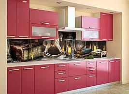 Вініловий кухонний фартух Вантажні іграшки скіналі наклейка ПВХ казка Абстракція свічки Коричневий 600*2500