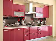 Виниловый кухонный фартук Винтажный натюрморт (скинали для кухни наклейка ПВХ) Цветы букеты Серый 600*2500 мм