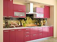 Вініловий кухонний фартух Оливковий гай скіналі для кухні наклейка ПВХ оливки маслини Зелений 600*2500 мм, фото 1
