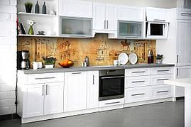 Вініловий кухонний фартух Рим скіналі для кухні наклейка ПВХ Колаж Античність Бежевий 600*2500 мм
