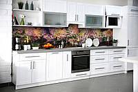 Виниловый кухонный фартук Радужный Лес (скинали для кухни наклейка ПВХ) деревья Природа Розовый 600*2500 мм, фото 1