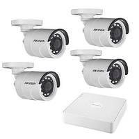 Комплект для наружнего видеонаблюдения на 4-ре цилиндрицеские 2Мп TurboHD камеры