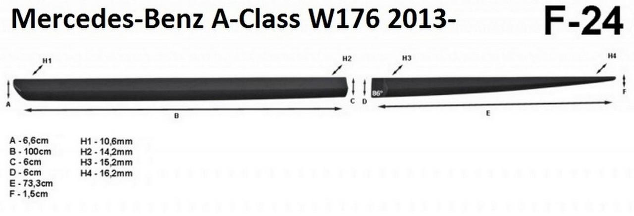 Молдинги на двері для Mercedes-Benz A-class W176 2013-2018, фото 6