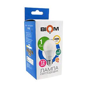 Светодиодная лампа BIOM BT-532 А60 12W E27 4500K (Груша) switch dimmable