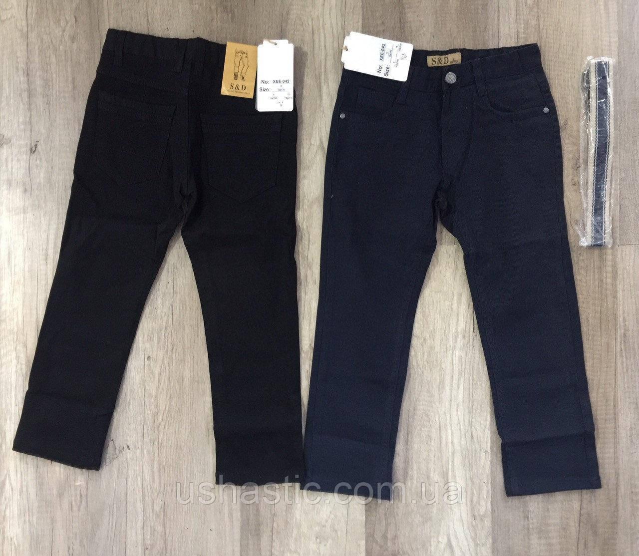 """Коттоновые брюки на резинке для мальчиков """" S&D"""" на 4-12  лет ( Венгрия)"""