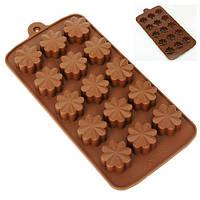 """Силіконова форма для цукерок """"Ромашка"""" 15шт на аркуші, 22х10.5х1.5см, формочки для виготовлення цукерок, форми"""